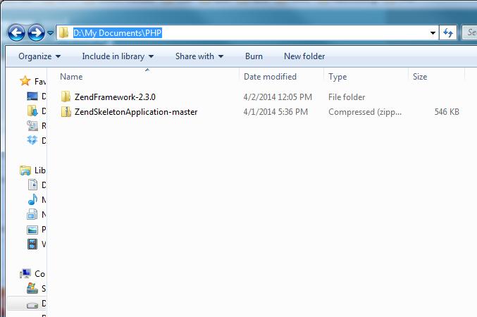 Set up Zend framework 2 with NetBeans Running on XAMPP @ 肖恩D++